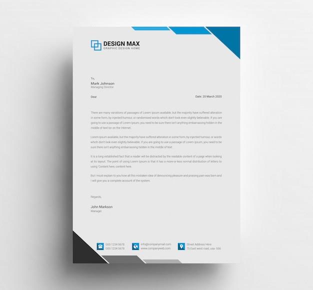 Diseño de plantilla con membrete PSD Premium
