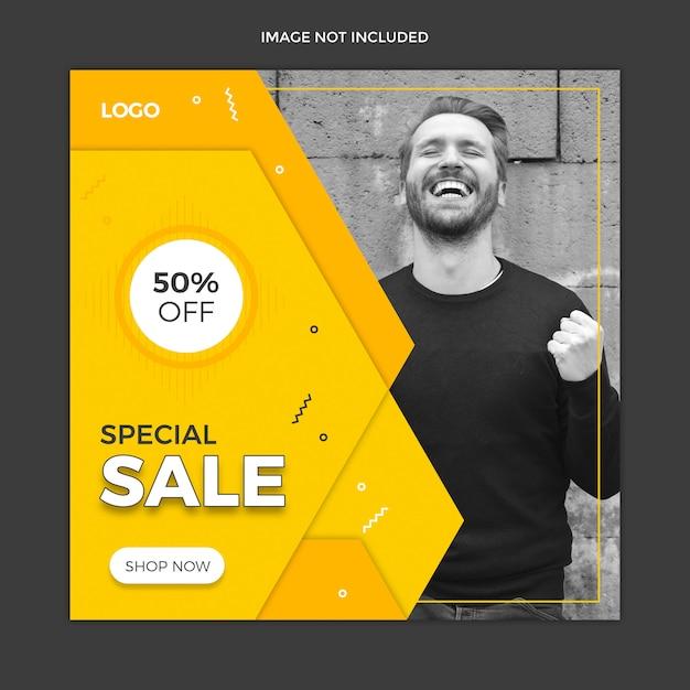 Diseño de plantilla de publicación de instagram de redes sociales PSD Premium