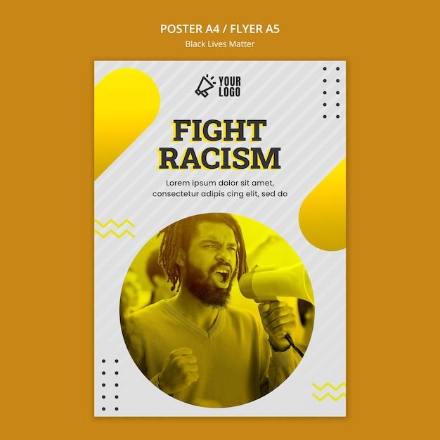 Diseño de póster de vidas negras importadas PSD gratuito