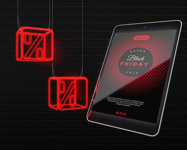 Dispositivo electrónico a la venta el viernes negro PSD gratuito