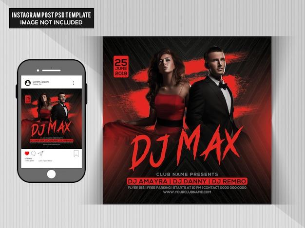 Dj max party flyer Premium Psd