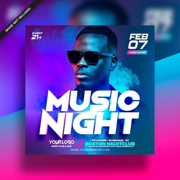 Dj music club flyer electro flyer PSD Premium