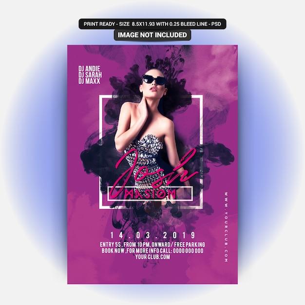Dj party flyer Psd Premium