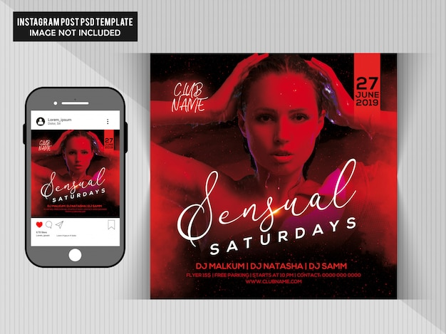 Dj party flyer PSD Premium