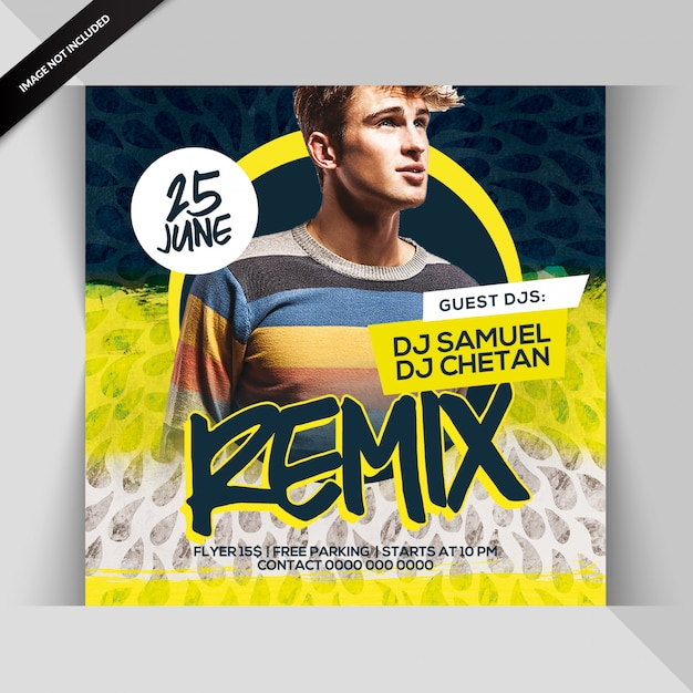 Dj remix party-flyer Premium Psd