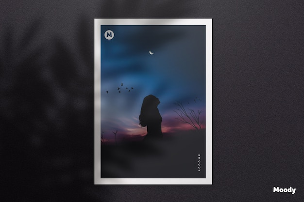 Documento a4 o folleto maqueta con sombra PSD Premium