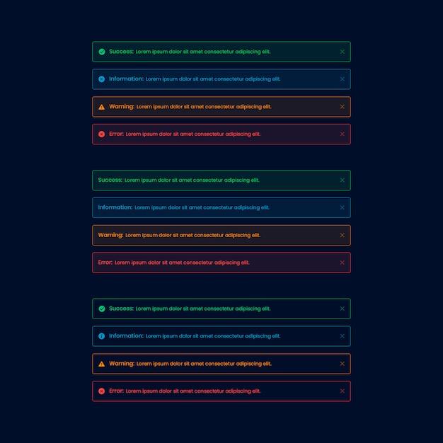 Donker alarm web ui-element Premium Psd