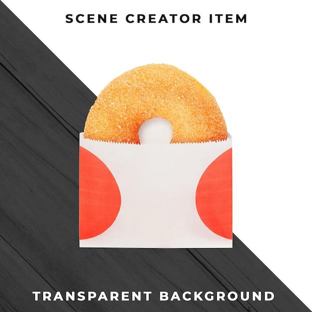 Donut-object op transparante psd Gratis Psd