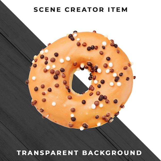 Donut-object op transparante psd Premium Psd