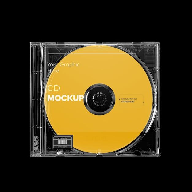 Doorzichtige cd-hoesmodel Premium Psd