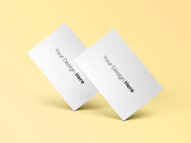 Dos tarjetas de visita permanentes mínimas PSD Premium
