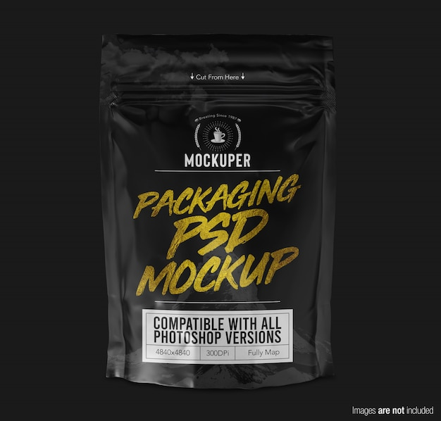 Doypack product packaging mockup vista frontale Psd Premium