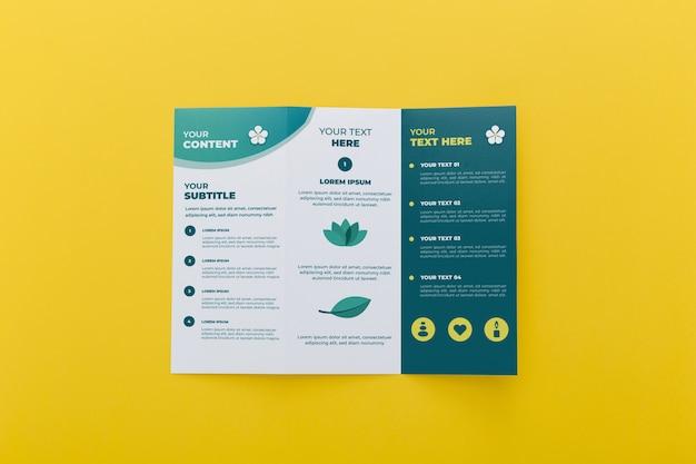 Driebladige brochure concept mock-up Gratis Psd