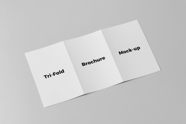 Driebladige brochure mock-up Premium Psd