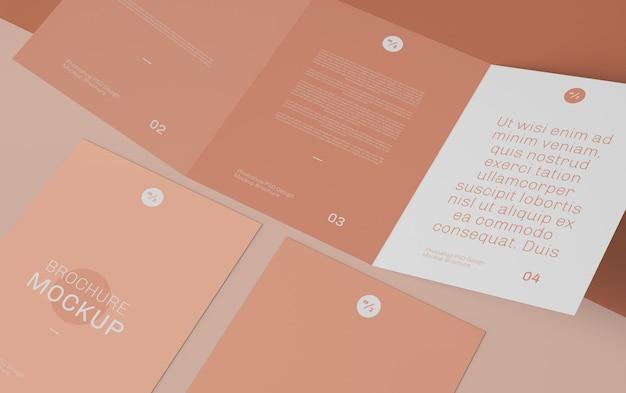 Driebladige brochure mockup Premium Psd