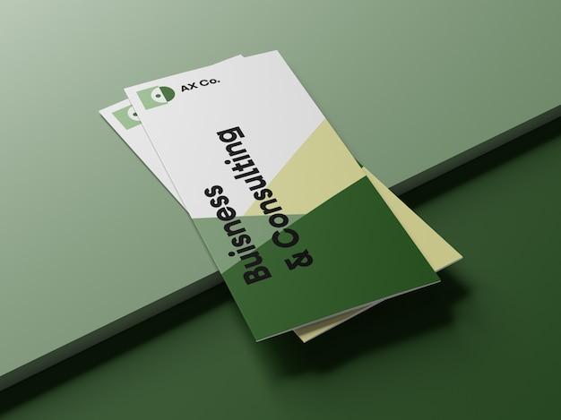 Driebladige brochure mockups Premium Psd