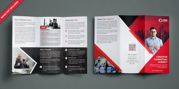 Driebladige brochure Premium Psd