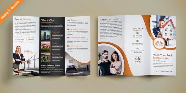 Driebladige onroerend goed brochure Premium Psd