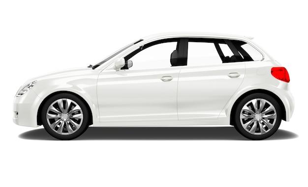 Driedimensionaal beeld van de auto Premium Psd