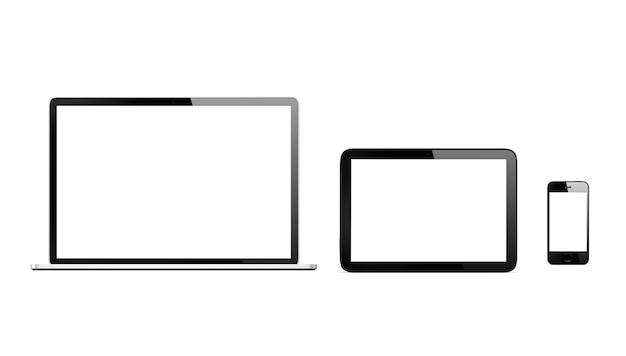 Driedimensionaal beeld van digitale apparaten Gratis Psd