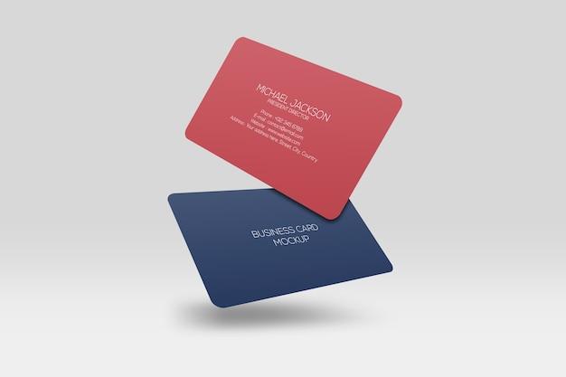 Drijvend visitekaartje met afgeronde hoeken Premium Psd