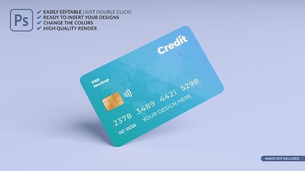Drijvende creditcard ontwerp mockup 3d-rendering Premium Psd