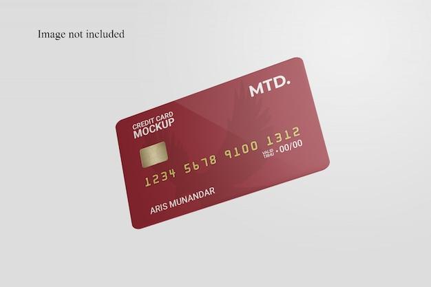 Drijvende creditcardmodel Premium Psd