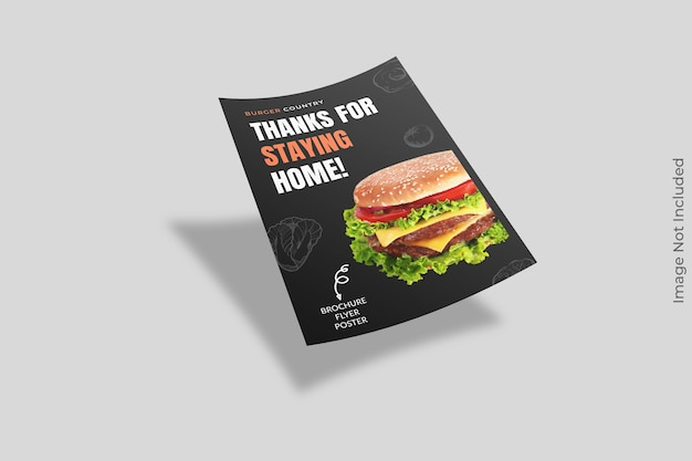 Drijvende flyer brochure mockup geïsoleerd Premium Psd