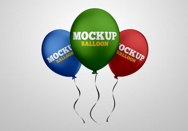 Drijvende helium ballonnen mockup Premium Psd