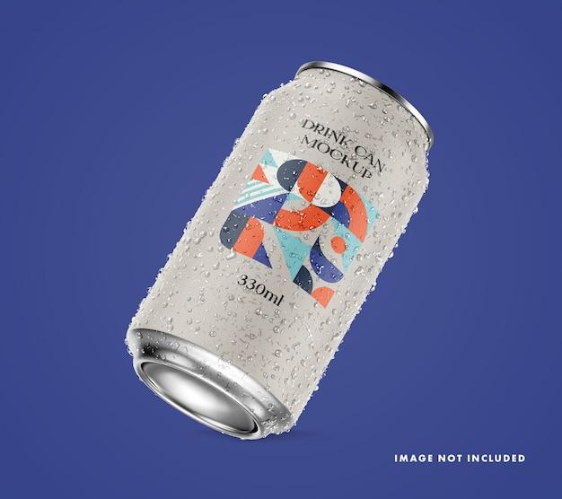 Drink can mockup Premium Psd