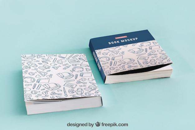 Due modelli di copertina del libro Psd Gratuite