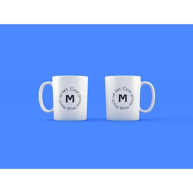Due tazze su sfondo blu sfilano Psd Gratuite