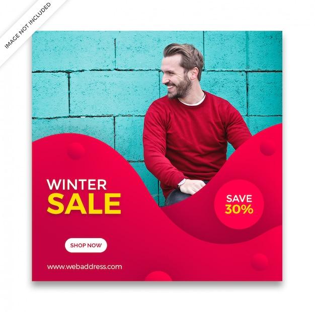 Dynamische verkoop sociale media post sjabloon Premium Psd