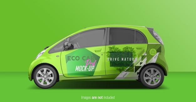 Eco car psd mockup zijaanzicht Premium Psd