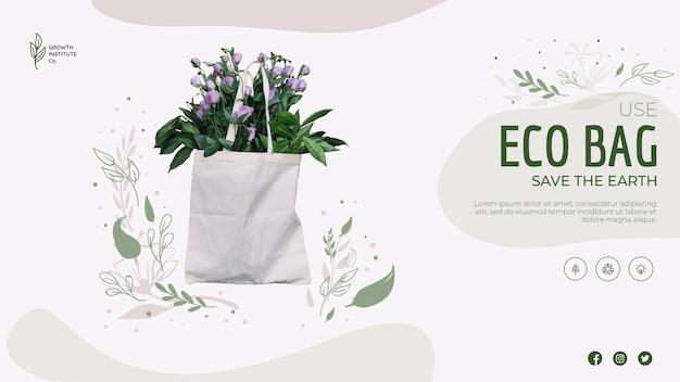 Eco-tas voor bloemen en winkelen Gratis Psd