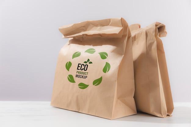 Eco-vriendelijke concept mock-up Gratis Psd