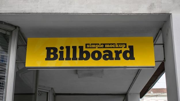 Eenvoudig billboardmodel Premium Psd