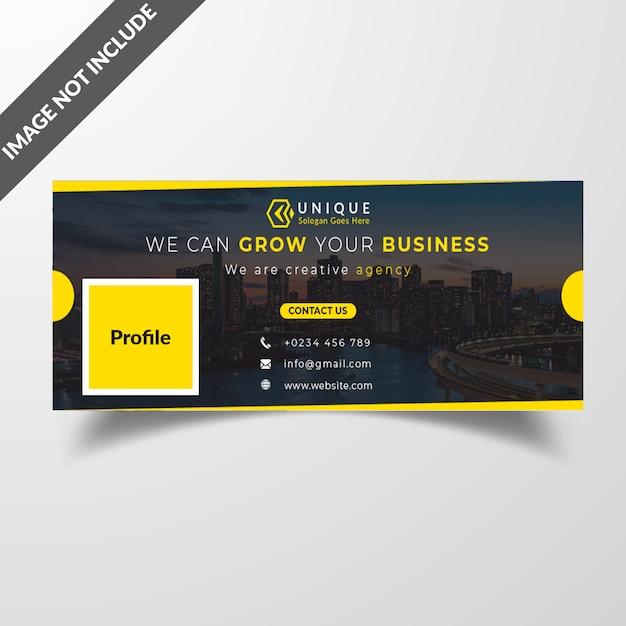 Eenvoudig facebook cover design Premium Psd