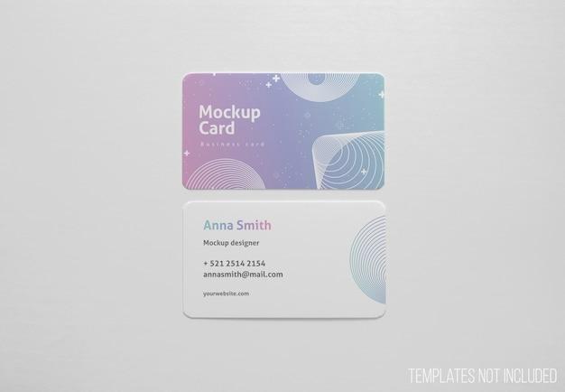 Eenvoudige mockup van visitekaartjes Gratis Psd
