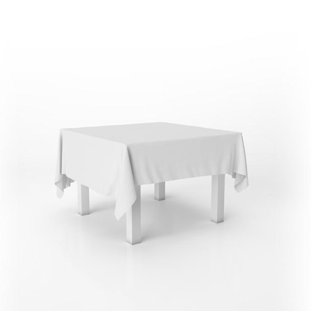 Eettafel mockup met een wit doek Gratis Psd