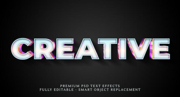 Efecto de estilo de texto blanco psd, efectos de texto psd premium PSD Premium