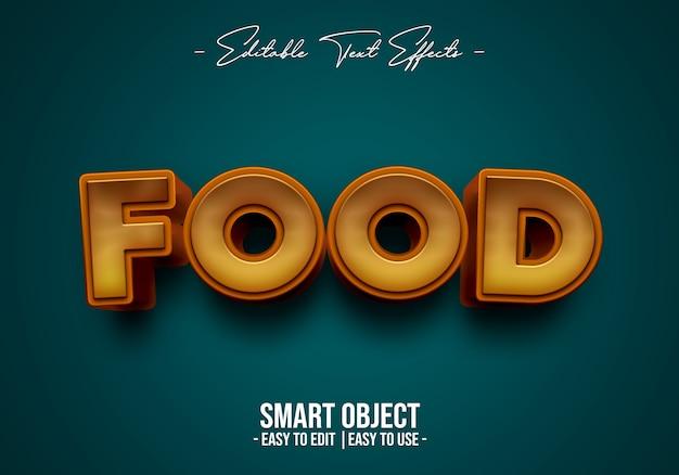 Efecto de estilo de texto de comida PSD gratuito