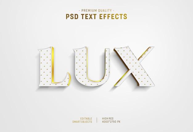Efecto de estilo de texto de lujo PSD Premium