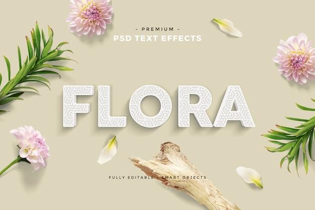 Efecto floral texto divertido maqueta escena personalizada PSD Premium
