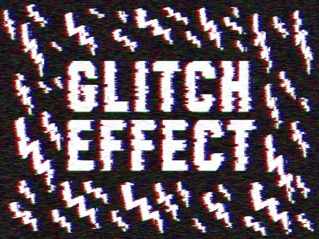 Efecto glitch a tus imágenes. PSD gratuito