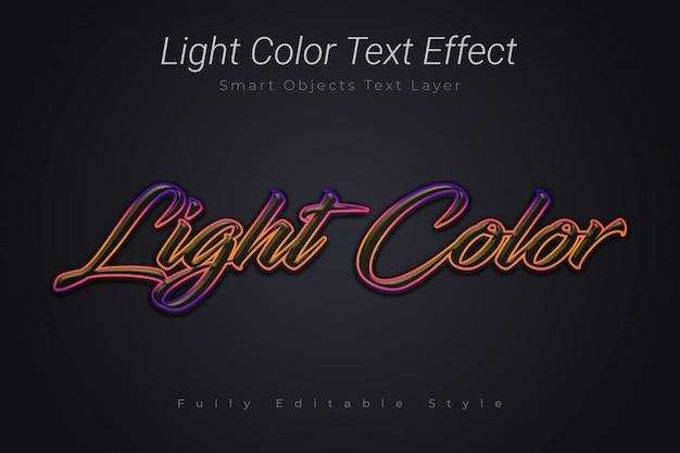 Efecto de texto de color claro PSD Premium