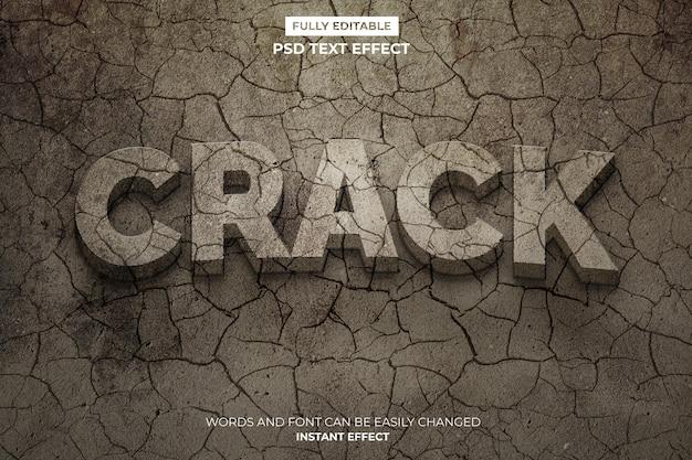 Efecto de texto crack PSD gratuito