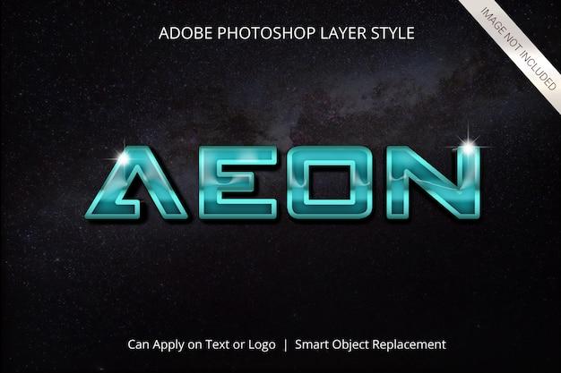 Efecto de texto de estilo de capa de adobe photoshop PSD Premium