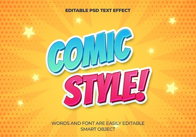 Efecto de texto de estilo cómico PSD gratuito