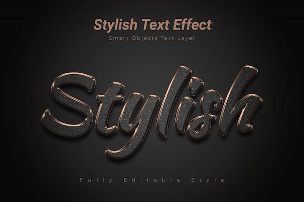 Efecto de texto con estilo PSD Premium